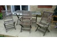 SOLD (subject to collection) Garden/Patio Table & 3 chairs