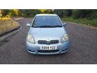 2004 Toyota Yaris 1.3 Blue 5dr hatchback AUTO Petrol MOT may 2019 full service history sunroof 3keys