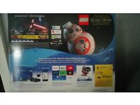 Playstation 4 black brand new, with all leads and star wars lego game and movie