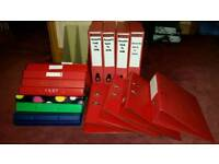 Selection of used ring binders, lever arch files and box files