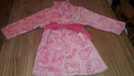 Peppa pig dressing gown age 2 to 3