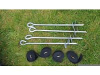 Trampoline 10 ft suround safety ring & anchor kit
