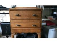 Two mid century chest of drawers