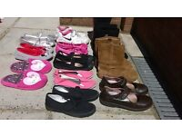 12 pairs of girls shoes. Sizes 13/1/2. From clarks and next .
