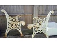 Victorian? Cast iron garden seat / bench ends