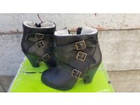 Womens Black ankle Boots Size 5