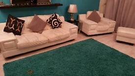 DFS Leather Sofa Suite