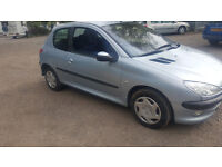 PEUGEOT 206 1.4 PETROL. 3 DOOR HATCHBACK. 90,000. 2003. FAILED MOT. EASY FIX. DRIVES FINE
