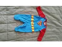 Newborn superman baby gro / sleepsuit