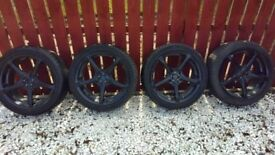 Alloy wheels 18 inch multi fitment c/w tyres