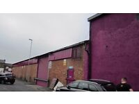INDUSTRIAL WAREHOUSE TO LET 1869 SQ FT, from £160 PW. AVAILABLE NOW