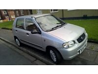Suzuki Alto 1.1 GL Silver 5 doors 55+ mpg. ONLY £30 Road Tax. Low Insurance! Drives very well.