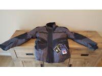 Mens CE Armoured Waterproof Cordura Motorbike Motorcycle Jacket