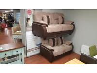 3&2 seater sofa in brown and beige Corduroy fabric £699!