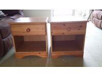 2 x Pine bedside table