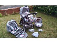 BABY PRAM 3IN1+BABY CAR SEAT