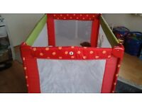 Childs travel cot (ideal for overnight stays)