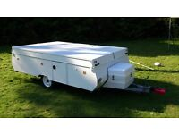 SOLD SUBJECT TO COLLECTION Conway Jaco Tardis, a classic folding hard top camper / trailer tent