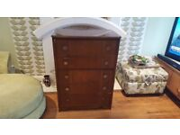 Vintage Retro Chest of Drawers 5 Drawers Dresser Sideboard Side Board