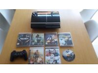 Sony PlayStation 3, 40GB Black PS3 Console, with controller & 7 Games inc COD, Fifa & Grand Turismo