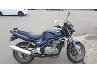 Kawasaki ER 500, (great first bike or cheap insurance hack.)