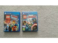 PS4 lego movie & marvel avengers games