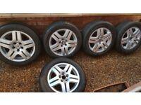 Genuine 15 Inch VW Alloy Wheels x 5