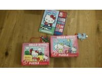 Hello Kitty Collection - Two puzzles and sound book