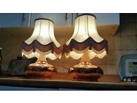VINTAGE BED SIDE TABLE LAMPS