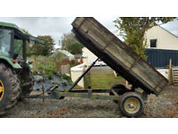 Agricultural hydraulic tipping trailer 3 ton capacity.