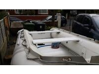 SIB semi inflatable boat + road trailer