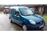 Renault Kangoo Wheelchair car/van or 5 seater