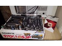 GIGABYTE 970A-DS3P Motherboard & FX6300 BLACK EDITION CPU! PC Bundle Deal!