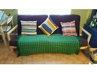 3 seater sofa futon double bed