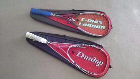 2 Carbon Fibre squash rackets