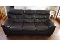 Leather Suite 3+2 Brown