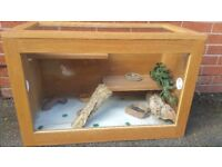 Gecon terarium in very good condition! with some accessories! Can delive!