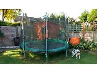 Used 10ft trampoline with many brand new parts including mat and springs.