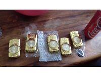 Gold flashing lighters