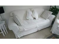 Three seater Settee. 2mtrs x 85cms deep x90cms back height.