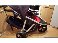 Phil and teds vibe double buggy pram pushchair