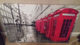 Large canvas with red letterboxes