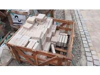 Natural stone block paving