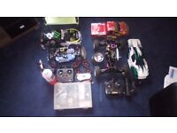 nitro rc car and truck 1 works other just needs fuel tank.
