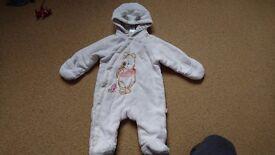 Fleece snowsuit 0-3 mths boys/girls/unisex