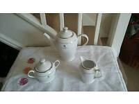 Tea pot, sugar bowl, milk jug
