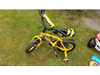 Boys bike yellow for quick sale