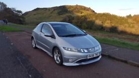 2007 Honda Civic Type S, 1.8 petrol, 140BHP low milage, high spec., great condition
