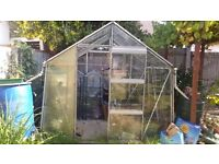 Old used Glass Greenhouse for Sale.
