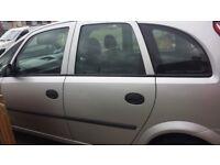 Vauxhall Meriva car silver long mot